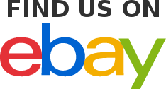 "FIND US ON ebay button, where ""ebay"" is the normal ebay logo"