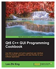 Qt5 C++ GUI Programming Cookbook, the picture on the front page represents a stream with a fall in the background and a small lake in the front.