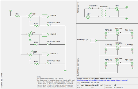 A Schema for engadget Solid State A/V Switch | The Linux Page